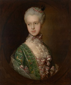 Elizabeth Wrottesley painted by Thomas Gainsborough in 1764