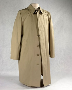The bulletproof trenchcoat that Ford began wearing in public in October 1975 due to two assassination attempts targeting him during the previous month