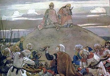 Burial of Oleg of Novgorod in a tumulus in 912. Painting by Viktor Vasnetsov