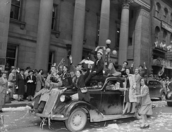 Celebrating V-E Day in Ottawa in 1945