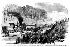 1st Ohio Infantry in action, June 1861.