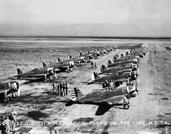 20th Pursuit Group P-36s at Moffett Field, California, 1939