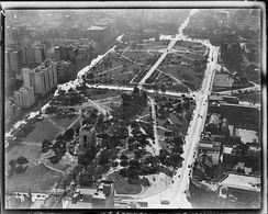 Hyde Park in 1934 from above.
