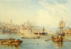 A painting of Ottoman era Istanbul by Thomas Allom