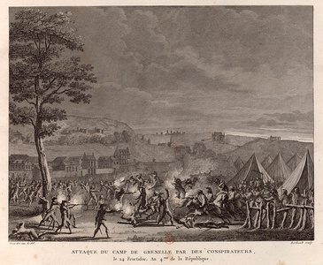 Failed uprising at the Grenelle military camp by Montagnards and followers of Babeuf (9 September 1796)
