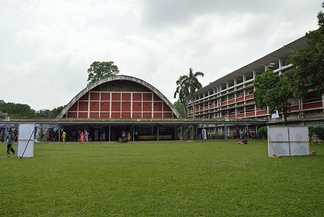 The Teacher-Student Centre in Dhaka University, designed by Constantinos Apostolou Doxiadis, is one of the major student hubs of the city