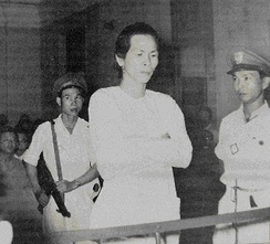 Ba Cut in Can Tho Military Court 1956, commander of religious movement the Hòa Hảo, which had fought against the Việt Minh, Vietnamese National Army and Cao Dai movement throughout the first war