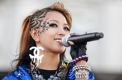 BoA performing at San Francisco Pride, June 28, 2009, was the first K-pop artist to chart on the Billboard 200 with her album BoA, chart dated April 4, 2009.
