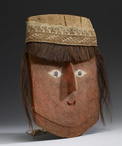 Mummy mask with wig