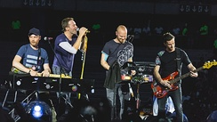 Coldplay playing the second of three sold-out concerts at Stade de France in Paris in July 2017