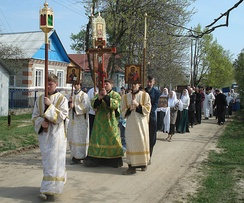 Traditional Paschal procession by Russian Orthodox Old-Rite Church