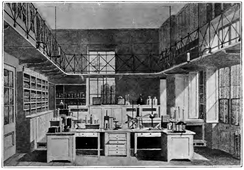 Illustration of the Daubeny Laboratory as it looked c. 1870.