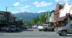 Looking north from downtown Whitefish