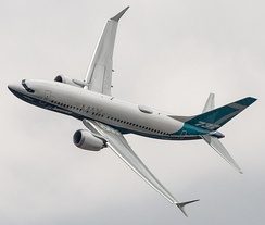737 MAX 7 at the 2018 Farnborough Airshow