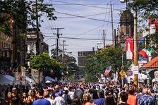 Feast of the Assumption in Cleveland's Little Italy.