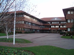 Gateshead Civic Centre, the meeting place of the Metropolitan Borough Council
