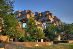 Habitat 67 is a model community and housing complex developed for Expo 67 World Fair.