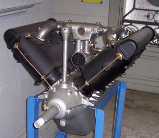 1914-1918 Hispano-Suiza 8A SOHC aircraft engine