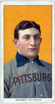 The American Tobacco Company's line of baseball cards featured shortstop Honus Wagner of the Pittsburgh Pirates from 1909 to 1911. In 2007, the card shown here sold for $2.8 million.[180]