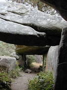 Inside the burial chamber at Mane Braz, Brittany, France