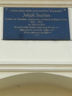Memorial plaque on his birth house