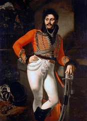Portrait of Russian hussar Evgraf Davydov by Kiprensky (1810s)
