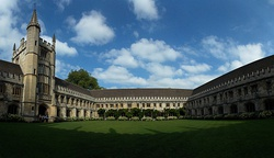 Panorama across the Cloister. On the left is the Founder's Tower.