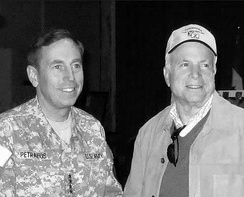 In Baghdad with General David Petraeus, November 2007.