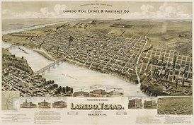 Map of Laredo in 1892