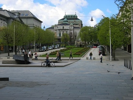 Ole Bull's Plass and Den Nationale Scene in Bergen Norway