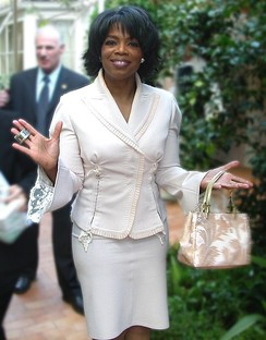 Winfrey celebrating her fiftieth birthday among friends at her Santa Barbara estate