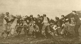 The Columbus Panhandles playing a game during the 1910s at Indianola Park.