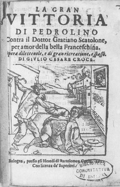 Pedrolino scuffles with the Doctor, 1621.