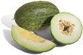 The syncarpous ovary of this melon is made up of four carpels, and has one locule.
