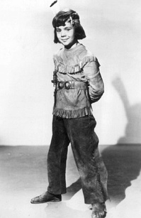 "Blake as ""Little Beaver"" in a Red Ryder film serial chapter, ca. 1946"
