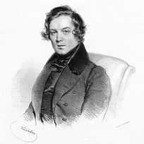 Robert Schumann, lithograph by Josef Kriehuber, in 1839
