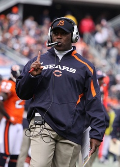 Lovie Smith coached the Bears from 2004 to 2012.