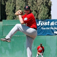 Taylor Stanton pitching for High Desert in 2012