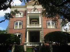 The Calhoun Mansion at 16 Meeting Street was built in 1876 by George Williams, but derives its name from a later occupant, his grandson-in-law Patrick Calhoun.