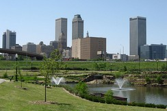 Tulsa is the state's second-largest city by population and land area.