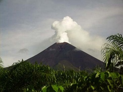Ulawun stratovolcano situated on the island of New Britain, Papua New Guinea