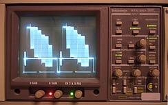 Color signals mixed with video signal (two horizontal lines in sequence)