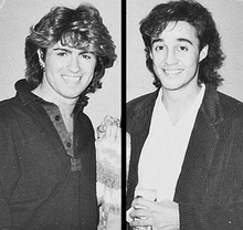 George Michael (left) and Andrew Ridgeley (right), 1984–1985