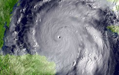 Hurricane Wilma on 19 October 2005; 882 hPa (12.79 psi) in the storm's eye