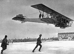 The Sikorsky Ilya Muromets was designed by Igor Sikorsky as the first ever airliner, but it was turned into a bomber by the Imperial Russian Air Force.