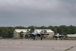 F-15s formerly from the 102nd return to Otis on 11 July 2013. The 104th Fighter Wing will maintain its alert posture within the existing alert-infrastructure on Cape Cod while the training missions will fly out of Westover Air Reserve Base.