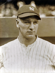 Gehrig during his rookie year, 1923