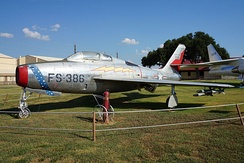 F-84F at the Barksdale Global Power Museum