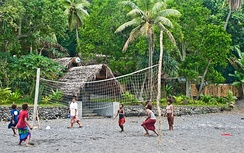 A beach volleyball game in Tanna, Vanuatu (2009)