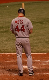 Moss with the Boston Red Sox in 2007